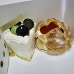 アンリ・シャルパンティエ - ザ・ショートケーキ(2種のぶどう)  プディング・シュー