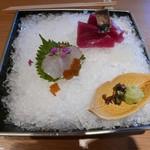 懐食みちば - 鮮魚二種氷盛り・2018/9