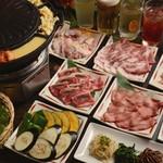 焼肉酒房 元 - 韓流焼肉コース3900円