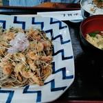 93559783 - おすすめランチ(ミニ昼膳)の海老おろし蕎麦