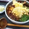 真庵 - 料理写真:上天ぷら蕎麦♪  海老がすっごく大きかったです(*´>ω<`*)