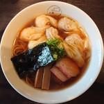 93563368 - 2018年9月 特製ワンタン麺 黒だし 1100円