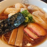 八雲 - 2018年9月 特製ワンタン麺 黒だし 1100円