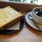 ワイズマンコーヒー - 料理写真:珈琲&トーストセット