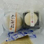 御菓子司 角八本店 - [2018/08]冷凍状態のものを保冷剤を入れて持ち歩きます。