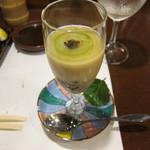 知仙 - ジュンサイの冷たい茶碗蒸し