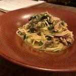 イタリアン アンド ワイン チャコール - 秋刀魚と焼き茄子のスパゲティ