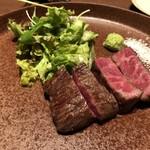 EBISUYA - ◆尾崎牛ステーキ(100g:3500円)