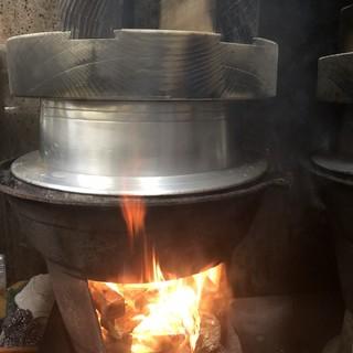 薪と釜で炊くシャリ