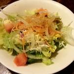 喫茶モア - サラダ(酸っぱめのドレッシングがイイ)