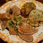 93585932 - 牛タン屋の前菜盛り 800円