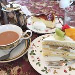 北浜レトロ - 紅茶とケーキ×2