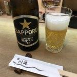 川淀 - サッポロ黒中瓶(500円)