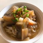 谷川製麺所 - かけうどん(ここでは、おのずと・・・しっぽく)