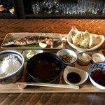 いまが旬 あ・うん - 料理写真:さんま塩焼き定食 1404円  ミニ天ぷら 540円