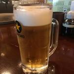 あきよし - 「生ビール」298円也。