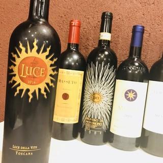 ◆赤・白各種◇料理とのマリアージュを楽しむワイン充実