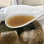 ラーメン ツバメ - 煮干し中華そば醤油のスープ