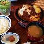 洋食勝井 - ハンバーグステーキランチ