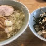榮ラーメン - チャーシュー丼セット ¥1,000-