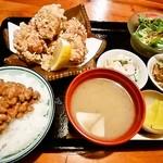 三五食堂 - 唐揚げ定食850円