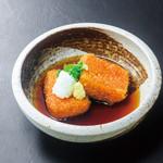 浜焼き しんちゃん - 桜えびの揚げ出し豆腐   580円
