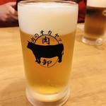 大衆酒場肉のオカヤマ - 金麦生