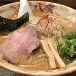 麺匠 八雲 - 料理写真:期間限定の @フォロワー1000麺(味噌)780円 食べログクーポン使用 大盛