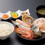 浜焼き しんちゃん - 贅沢浜焼き定食   1480円