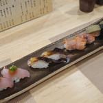 鮨 八代 - 金目鯛、鳥貝、赤貝、子持ち昆布
