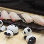 鮨 八代 - 箸置きが、全部パンダで14種類あるそうです