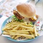 サザンビーチカフェ - フライドチキンバーガー