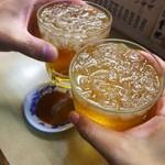 淡水軒 - 杏露酒でかんぱーい