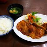 洋食の朝日 - 豚のしょうが焼き