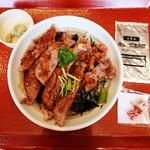 なか卯 - 料理写真:リブステーキ丼 1,280円 2018/06