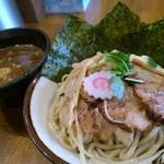 馳走麺 狸穴 - 魚介特製つけ麺大盛り@1050円
