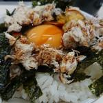 サバ6製麺所 - 醤油を掛けて……ウマイ…(;´д`)