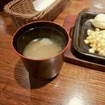 93619571 - 湯のみ茶碗のような豚汁