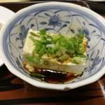 93623613 - 生姜醤油で豆腐