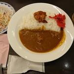 カレーショップ C&C  - 料理写真:朝カレーのA(唐揚げ)¥350-