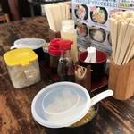 元禄うどん - 料理写真:卓上。