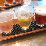 クラフトビアバル IBREW - グラスもかわいい飲み比べ3種