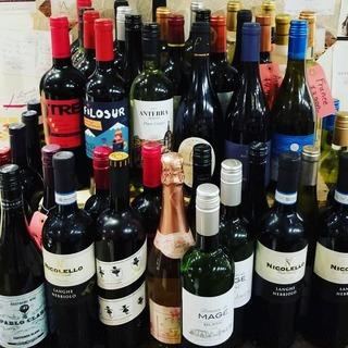 世界中から集めたワインが楽しめます。