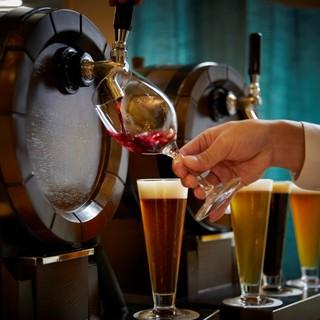 ワインや生ビールをはじめ、身体に優しい自家製ドリンクが豊富