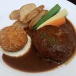 ボンクォーレ - 料理写真:ハンバーグとクリームコロッケのランチ