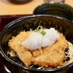 とんかつ葉月 - おろしかつ丼定食(ご飯大盛り)