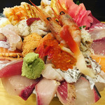 神東寿司 - 上海鮮丼980円(税別)