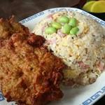 中華料理 タカノ - これで700円の炒飯と鶏から揚げ