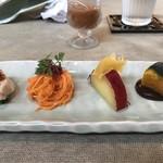 Chuugokuryourikujikuji - 前菜とガスパチョ風スープ