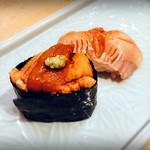 寿しの いく味 - 雲丹、赤貝
